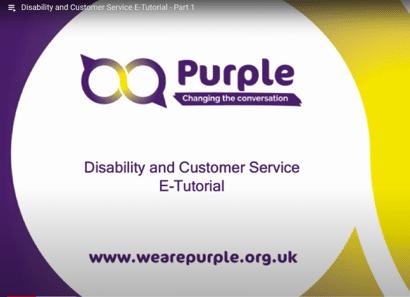 Disability and Customer Service e-tutorials