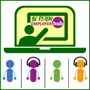 Icon images representing on-line learning