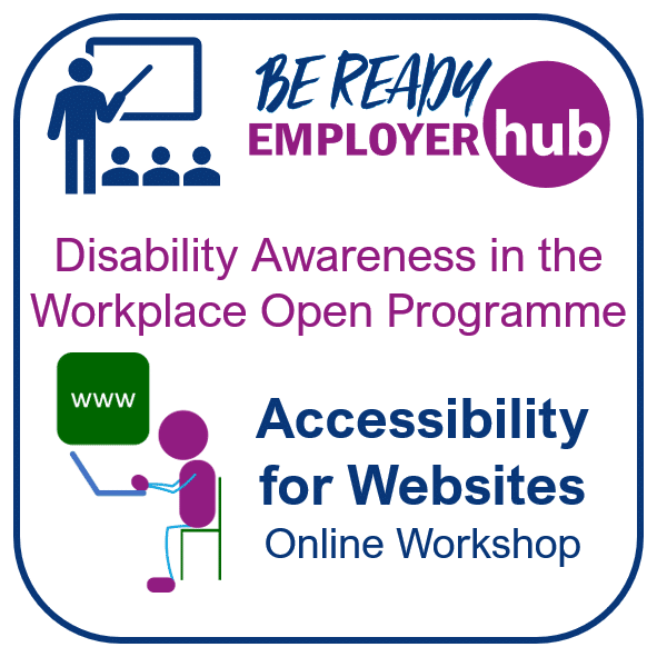 Advert link for the Accessibility for Websites training courses