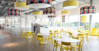 interior of the IKEA Exeter restaurant