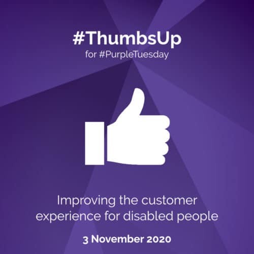 Thumbs Up for Purple Tuesday