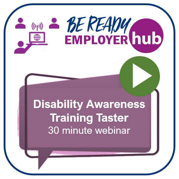 Promotional image for the Disability Awareness Taster webinar