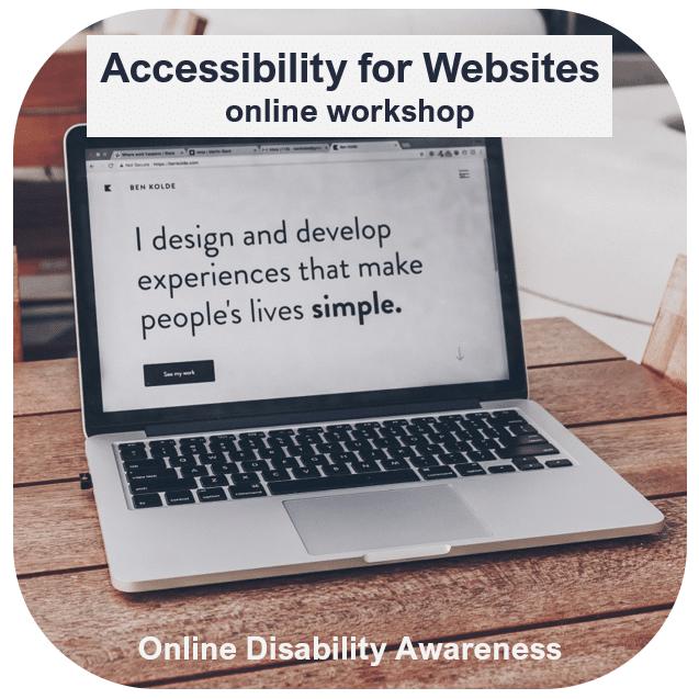Accessibility for Websites Online Workshop